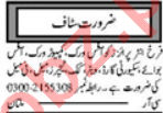 Khabrain Sunday Classified Ads 10 May 2020 General Staff