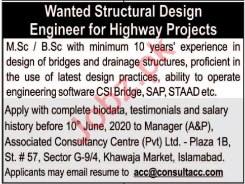 ACC Associated Consultancy Center Islamabad Jobs 2020