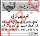 Security Guard & Cook Jobs 2020 in Lahore