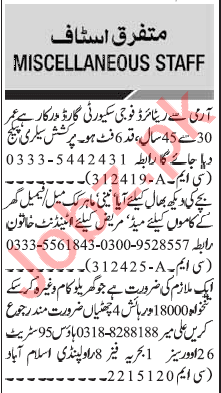 Security Guard & House Keeper Jobs 2020 in Islamabad