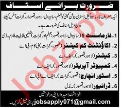 Pharmacist & Store Incharge Jobs 2020 in Lahore