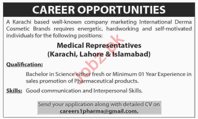 Medical Sales Representative Jobs 2020 in Islamabad