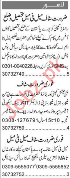 Telephone Operator & Receptionist Jobs 2020 in Lahore