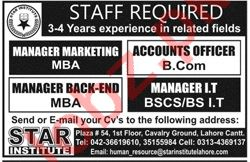 Manager Marketing & Accounts Officer Jobs 2020