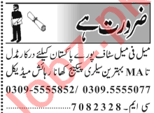 Male & Female Staff Jobs 2020 Career Opportunity in Lahore