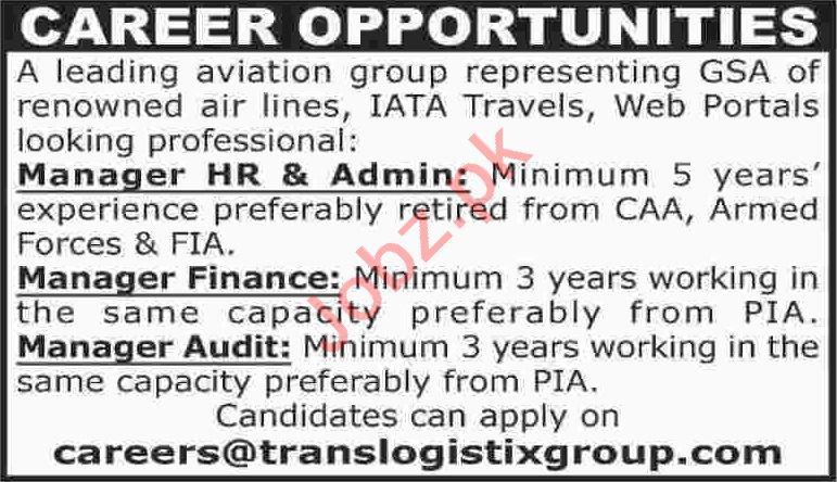 Manager Finance & Manager Audit Jobs 2020 in Karachi