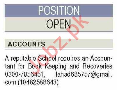 Accountant Jobs 2020 in Karachi