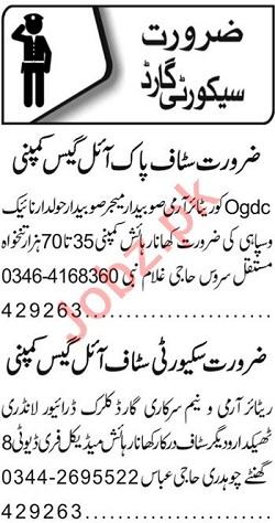 Security Staff Jobs Open in Lahore 2020