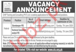 CHIP Training & Consulting CTC Islamabad Jobs 2020