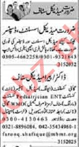 Dunya Sunday Classified Ads 31st May 2020 for Medical Staff