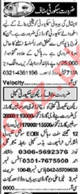 Khabrain Sunday Classified Ads 31st May 2020 Security Staff