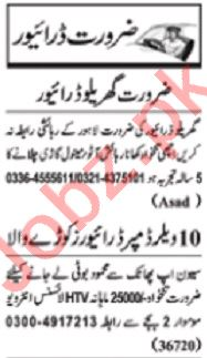Nawaiwaqt Sunday Classified Ads 31st May 2020 Driving Staff