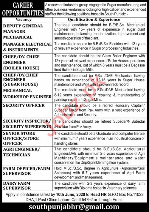 Manager Electrical & Dairy Farm Supervisor Jobs 2020