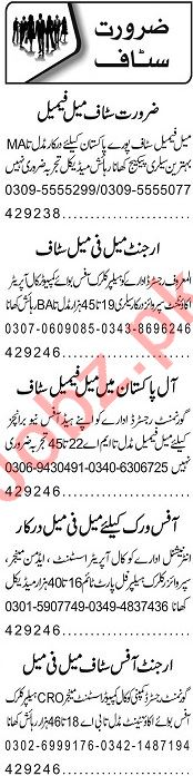 Call Operator Assistant & Receptionist Jobs 2020 in Lahore