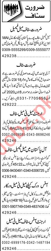 Data Entry Operator & Receptionist Jobs 2020 in Lahore