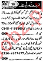 Security Guards & Security Incharge Jobs 2020 in Lahore