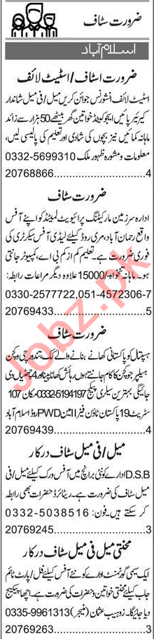 Insurance Agent & Sales Officer Jobs 2020 in Islamabad