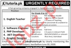 Imperial Tutorial College ITC Islamabad Jobs 2020