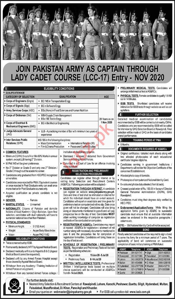 Pakistan Army Army jobs Posts Rawalpindi