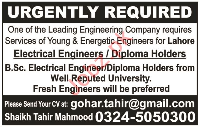 Electrical Engineer & Electrical Technician Jobs 2020