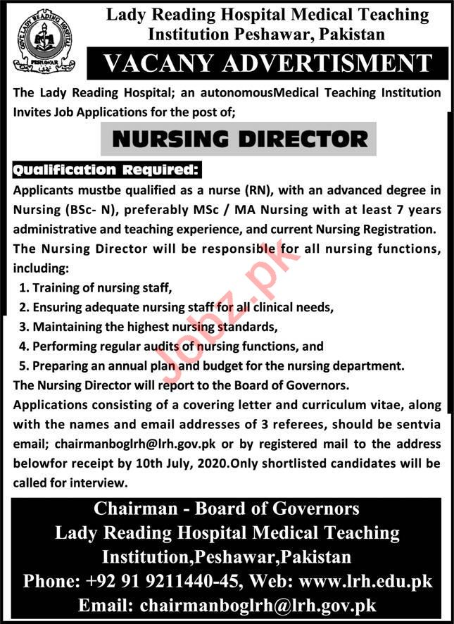 Medical Teaching Institution MTI Medical Posts Peshawar