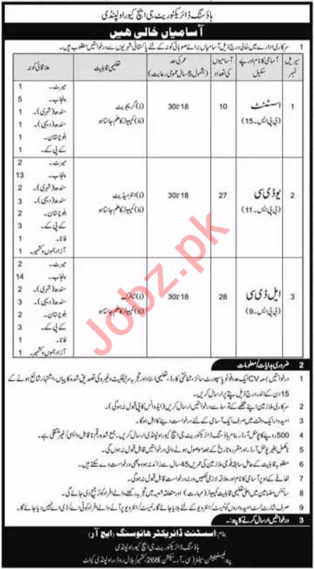Pak Army Housing Directorate GHQ Rawalpindi Jobs 2020