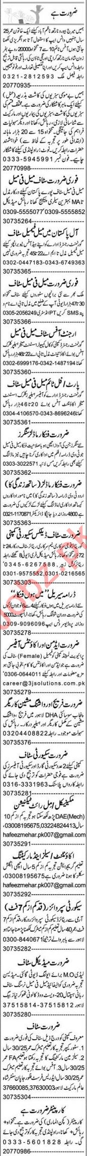 Express Sunday Lahore Classified Ads 28 June 2020