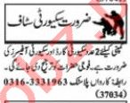 Nawaiwaqt Sunday Classified Ads 28 June 2020 for Security