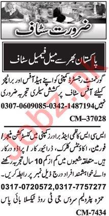 Nawaiwaqt Sunday Islamabad Classified Ads 28 June 2020