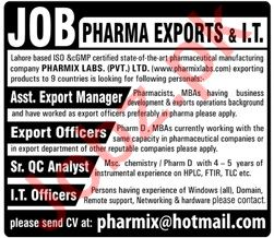 Assistant Export Manager & Export Officer Jobs 2020