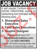 Showroom Sales Executive & Field Sales Executive Jobs 2020