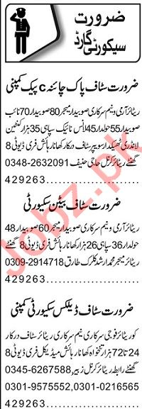 Security Guard & Lady Security Guard Jobs 2020