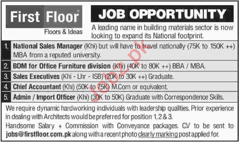 Latest First Floor Pvt Ltd Management Posts Karachi