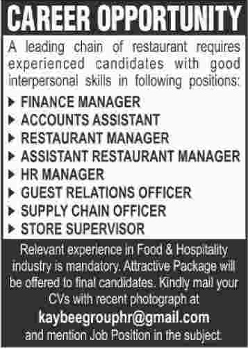 Finance Manager & Accounts Assistant Jobs 2020 in Karachi