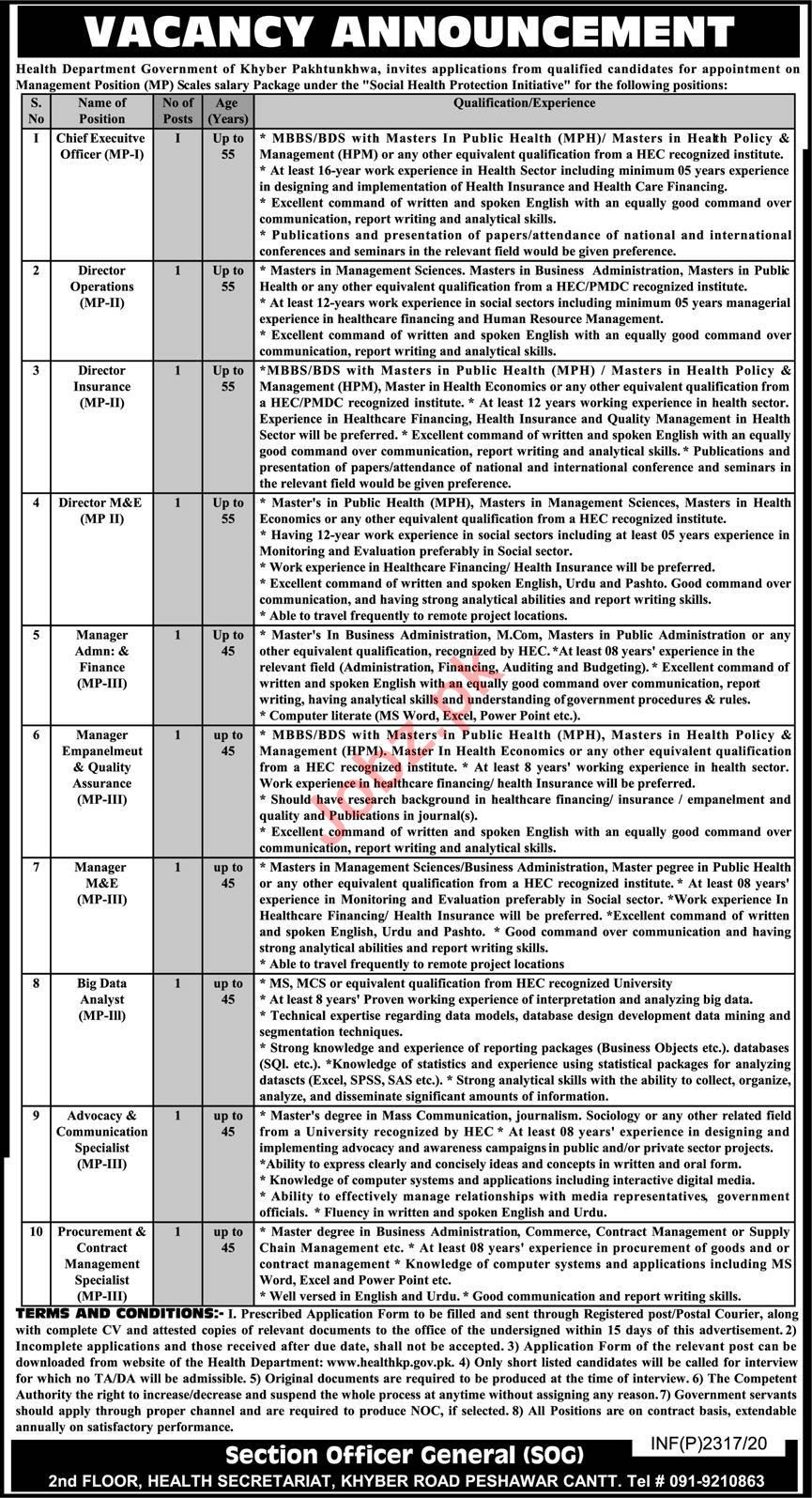 Social Health Protection Initiative KPK Jobs 2020