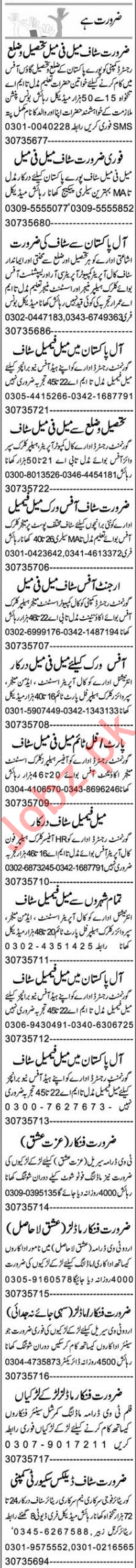 Office Assistant & HR Officer Jobs 2020 in Lahore