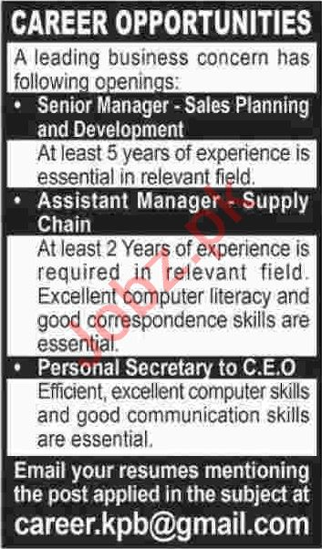 Senior Manager & Assistant Manager Jobs 2020