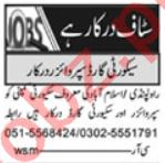 Security Supervisor & Clerk Jobs 2020 in Islamabad