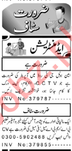 CCTV Technician & Manager Jobs 2020 in Peshawar