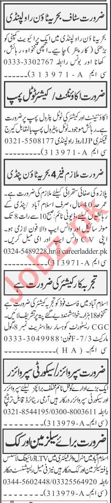 Jang Sunday Classified Ads 5th July 2020 for Office Staff