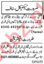 Nawaiwaqt Sunday Classified Ads 5th July 2020 for Technical