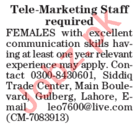 Telemarketing Executive & Telemarketing Officer Jobs 2020