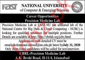 FAST National University Jobs 2020 for Research Assistant