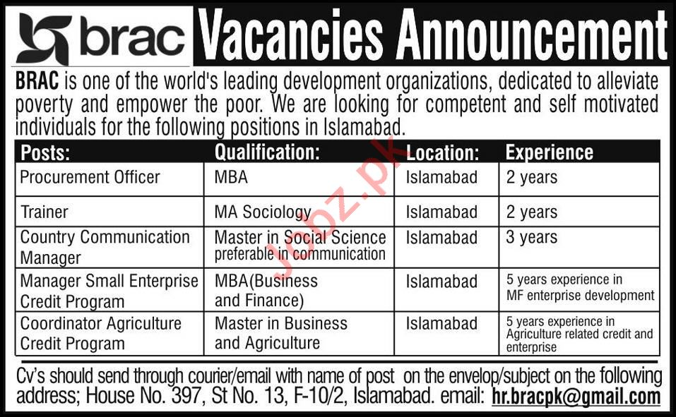 Procurement Officer & Coordinator Jobs 2020 in Islamabad
