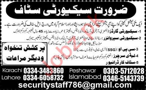 Staff Car Driver & Security Guard Jobs 2020 in Islamabad