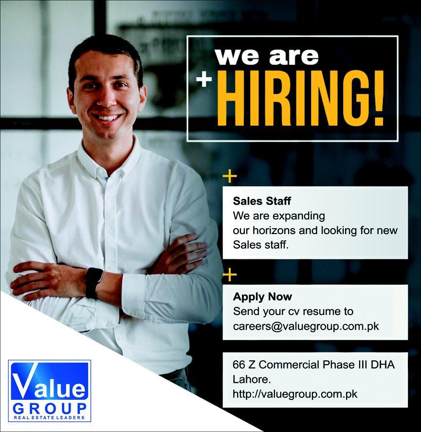 Value Group Jobs 2020 For Sales Staff in Lahore