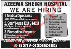 Azeema Sheikh Hospital Jobs 2020 for Medical Specialists