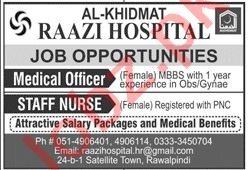 Al Khidmat Raazi Hospital Jobs 2020 for Medical Officers