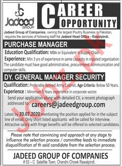 Jadeed Group of Companies Jobs 2020 for Purchase Manager