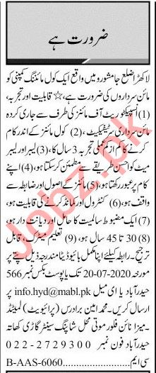 Jang Sunday Classified Ads 12th July 2020 for Engineering